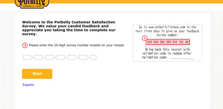 Potbelly Customer Satisfaction Survey