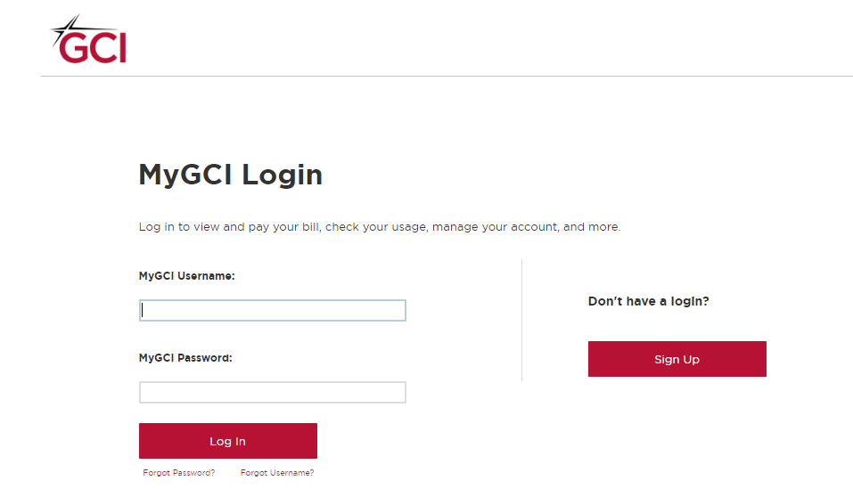 MyGCI Login