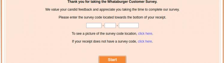 Whataburger Customer Survey