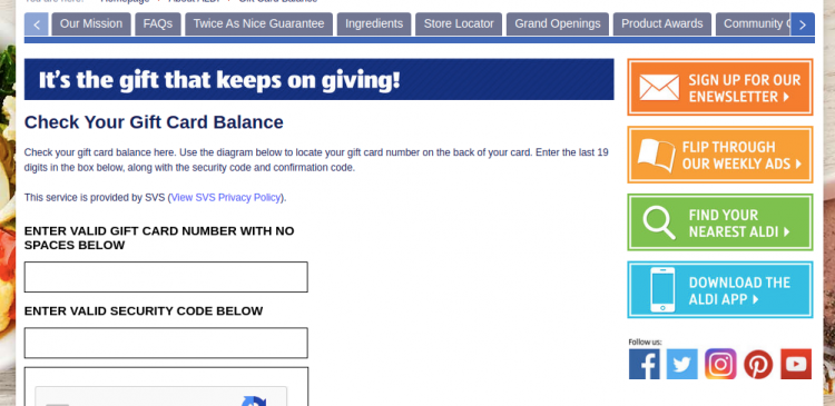 www.aldi.us/gift-card - How To Check Aldi Gift Card Balance Online