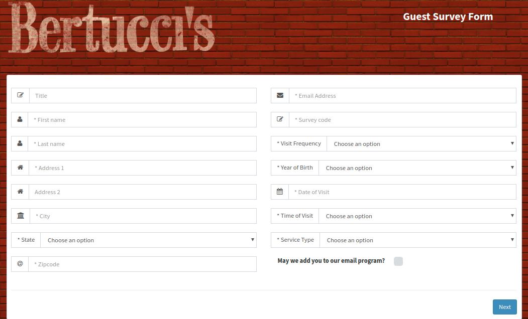 Bertucci Guest Survey