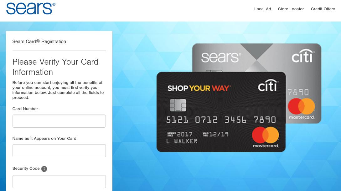 Sears Card Register