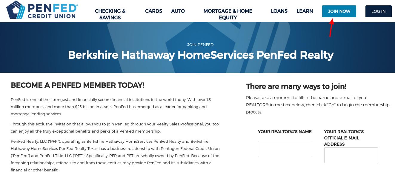PenFed Membership Join