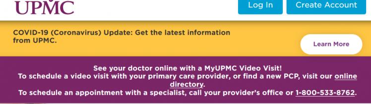 MyUPMC A Free Online Patient Health Portal