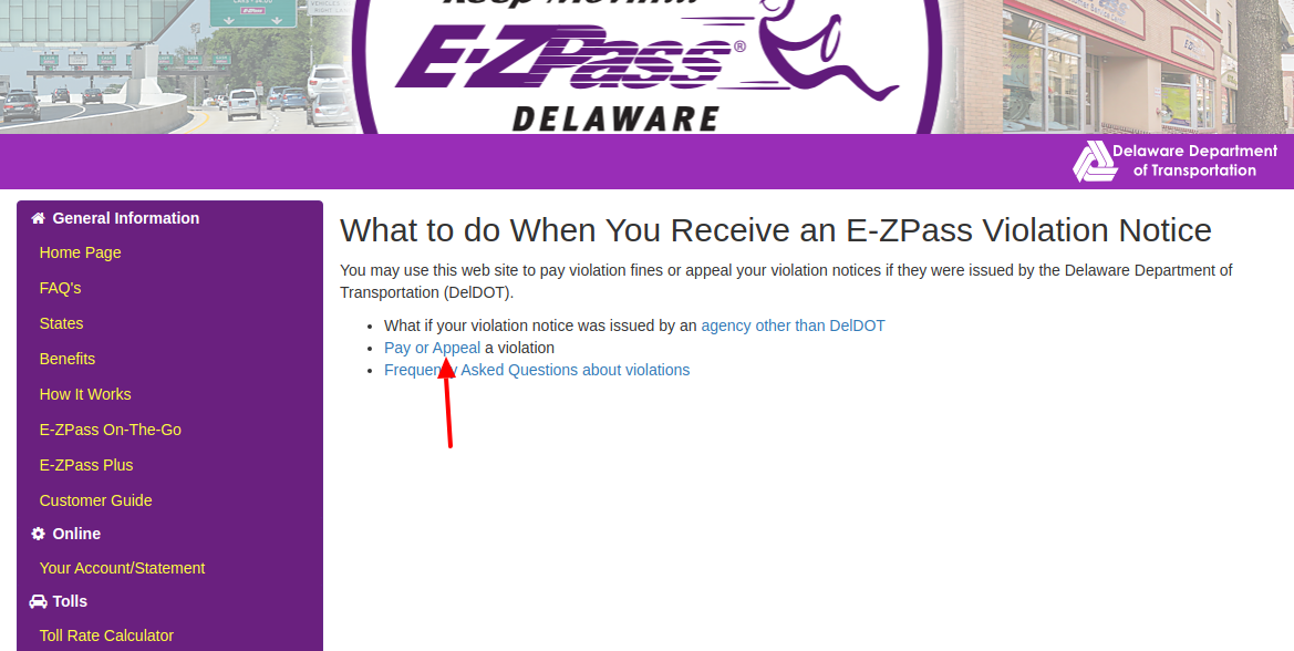 EZPass Violation Pay