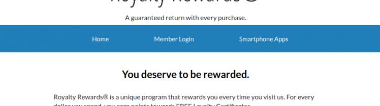 Royalty rewards Member Login