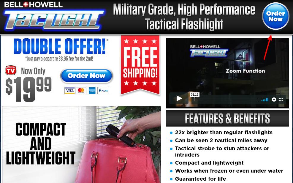 Tactical Flashlight Order