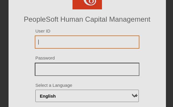 PeopleSoft Login