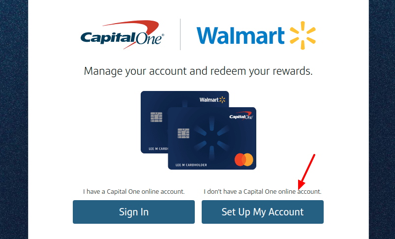 Capital One Walmart Rewards Card Setup