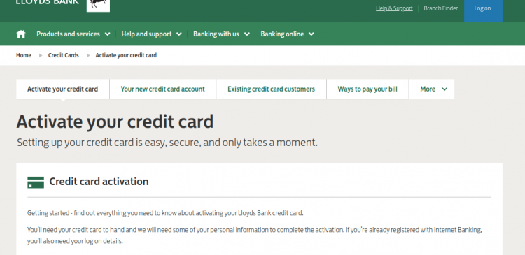 Lloyds Bank Credit Cards Activate