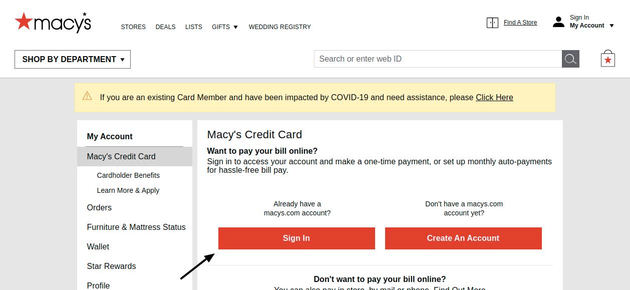 Macys Credit Card Sign In