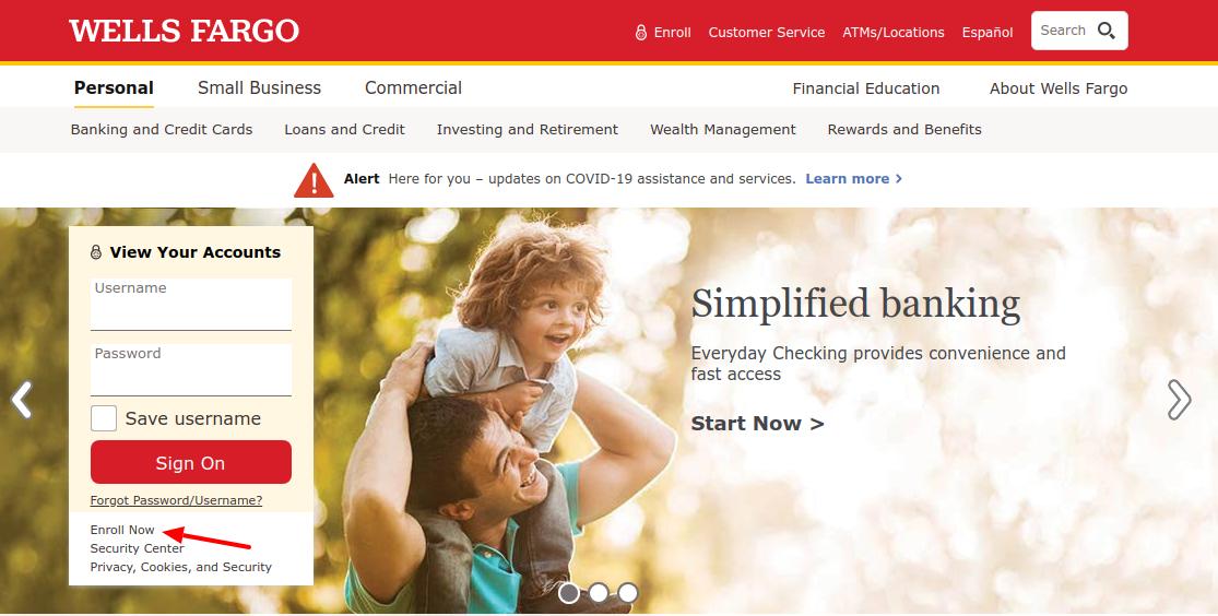 Wells Fargo Credit Card Enroll