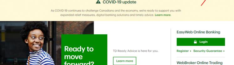 TD Canada Trust Credit Card Access