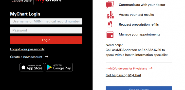 My MD Anderson Login
