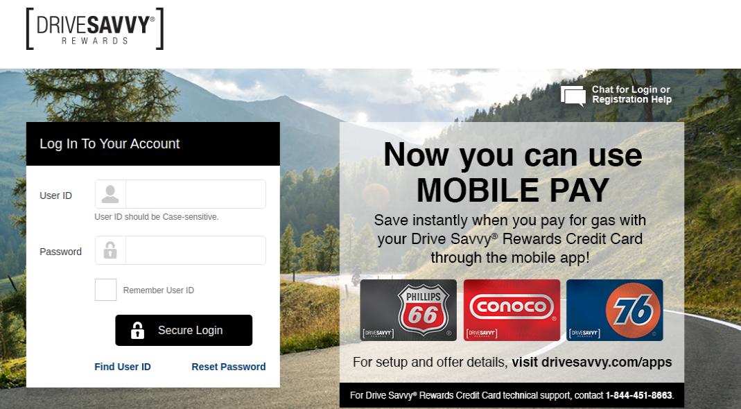 Drive-Savvy Rewards Credit Card Login