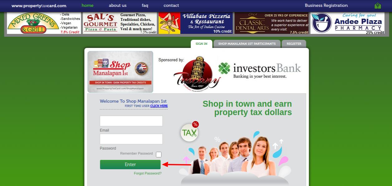Property Tax Reward Login