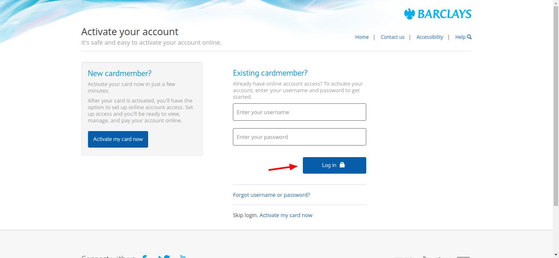 NFL Barclay Credit Card login