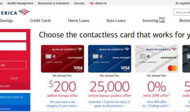 Bank of America Banking Login