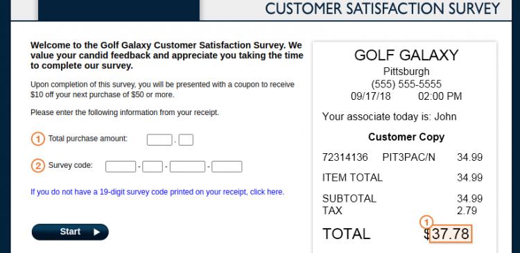 Golf Galaxy Customer Survey