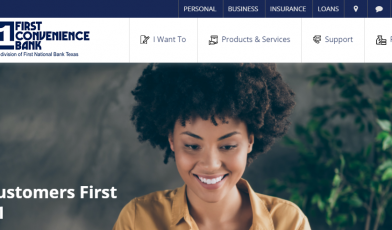 first convenience bank login
