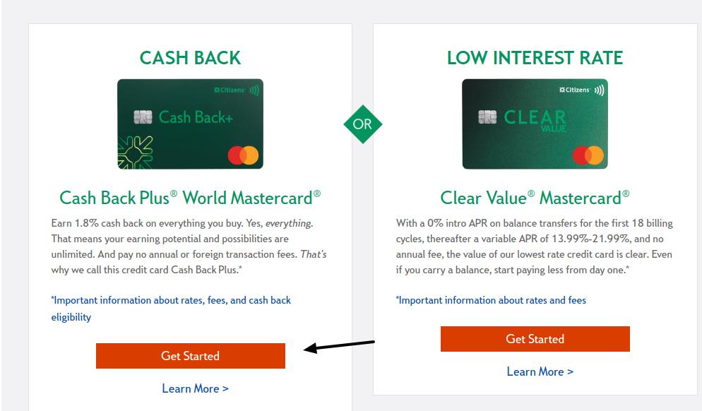 citizens bank cashback plus card apply